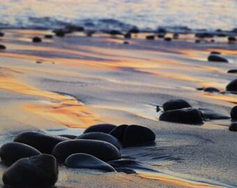 Stones on beach in California