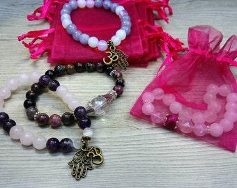 Fuchsia organza gift bag for 1 bracelet