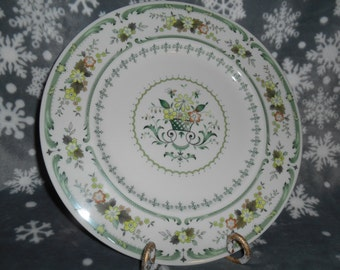 Royal Doulton China Provencal Dinner Plate TC1034 Green Floral - Excellent Condition  price for one Plate ~ 2 available