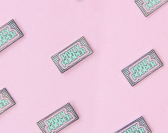 Party Pooper Pastel Grid Enamel Pin - 80s Memphis Flair - collectible pin greeting card - Birthday Party saved by the bell gift