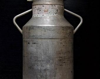 French Vintage Aluminium Milk Churn