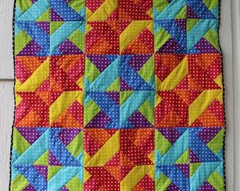 Baby Quilt- Rainbow Quilt