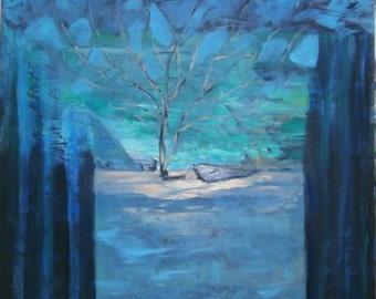 original   painting  blue dream
