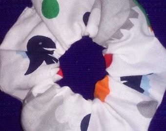 Dinosaur  Scrunchies; Scrunchie; Scrunchi ; Dino Scrunchies ; White Scrunchies ; Kids Scrunchies
