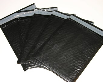 10 6x9 Black Poly Bubble Mailers Size 0  Padded Self Sealing Shipping Envelopes