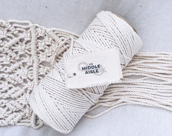 4mm Three Strand Cotton Rope 1kg // Macrame Rope // 4mm cotton rope