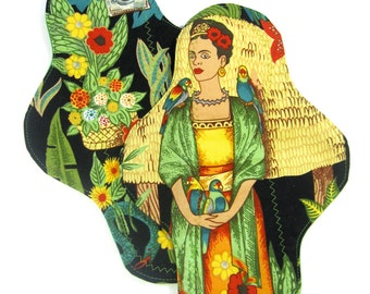 Yellow Frida Kahlo Cloth Pad, Set of Two, custom cloth pad set