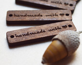 Wooden tags | Custom Clothing Labels | Wooden Tags | Wooden Labels | Clothing Tags | Labels for Handmade