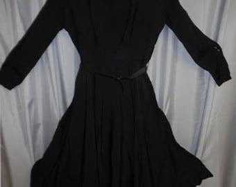 Vintage Early 60s Little Black Dress