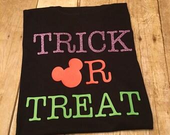 Disney Trick or Treat Shirt - Disney Halloween Shirt - Trick or Treat Mickey Shirt - Mickey Halloween Shirt - Disney Halloween Tee