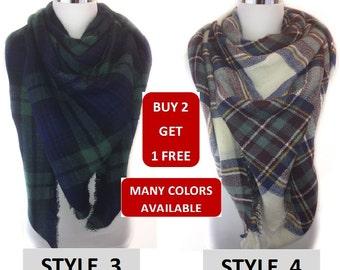 Blanket scarf, Plaid blanket scarf, Tartan plaid scarf, Zara blanket scarf, Tartan scarf, Oversized scarf, Oversized plaid scar