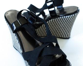 Black & White DESIGNER WEDGE