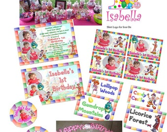 Personalized Candy Theme Party Pack