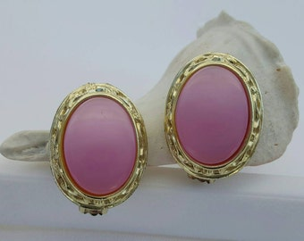 Pink Thermoset Earrings