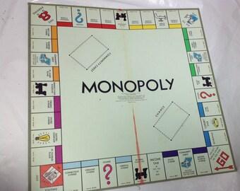 Vintage monopoly game board