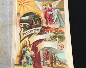 Religious Lithograph Etsy