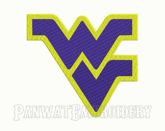 9 Size West Virginia Mountaineers Embroidery Designs, Machine Embroidery Designs, College Football Embroidery Designs - INSTANT DOWNLOAD