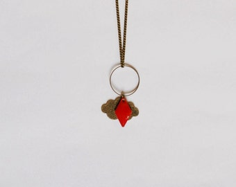 Collection head in the clouds red cloud necklace