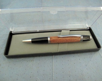 Handcrafted Gatsby 24kt Gold Twist Pen shown in Persimmon  wood