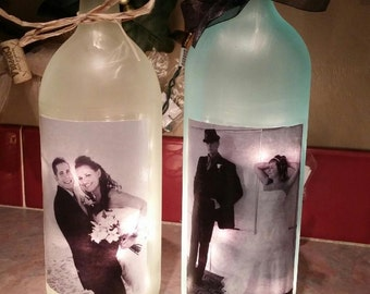 Personalized, Lighted Wine Bottles