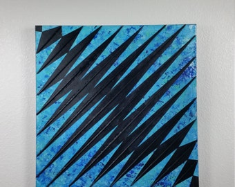 Original Large Abstract Painting Sound Wave Acrylic