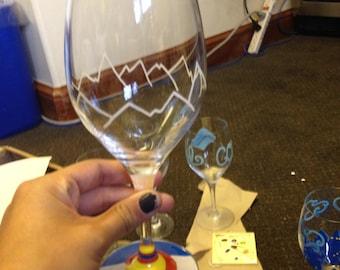 Mountain wine glass