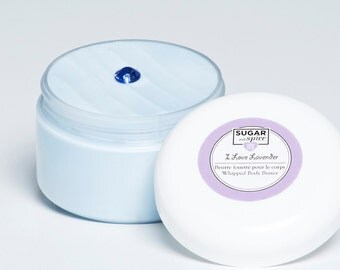 Lavender Body Butter, Shea Butter/Whipped/Moisturizer/Hand cream/Dry skin/Beeswax/Coconut oil/Vitamin E/Gift idea/