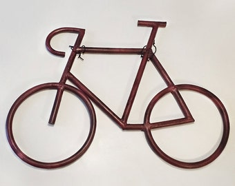 Bicycle wall decor made in metal