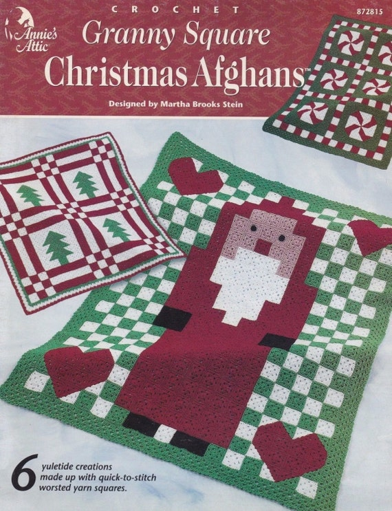 Free Crochet Granny Square Christmas Tree Pattern : Granny Square Christmas Afghan Annies Attic by ...