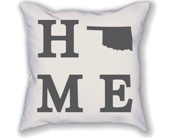 Oklahoma Home State Pillow