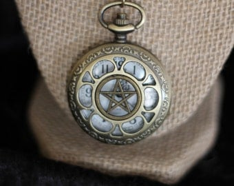 Pentacle or Tree of Life Pocket Watch
