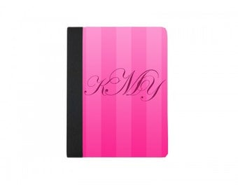 Pink Stripe Custom Initial/Monogrammed Small File Folder
