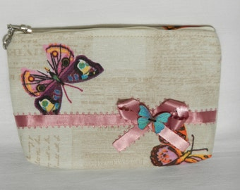 Small cosmetic bag, Make Up bag, Small Zipper Pouch
