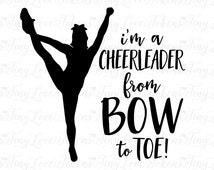 I'm A Cheerleader SVG Design for Silhouette and other craft cutters (.svg/.dxf/.eps/.pdf)