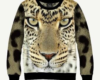 Wild Animal, Cheetah - Men's Women's Sweatshirt | Sweater - XS, S, M, L, XL, 2XL, 3XL, 4XL, 5XL