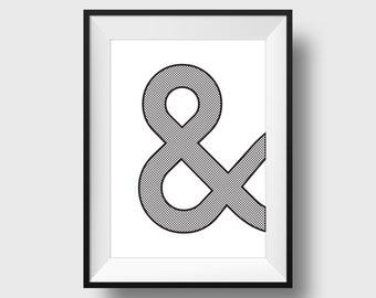 Punctuation Print Ampersand. 30% OFF With Code: 30SALE