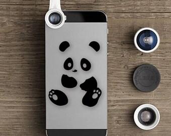 Panda Bear Sticker, iPhone Panda Bear Decal, iPad Panda Decals, Mobile Phone Panda Bear Stickers, Panda Bear,