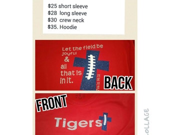 Psalm 96:12 Football Tshirt