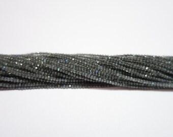 Bundle Of 6 Strands Of Labradorite Micro Faceted Rondelles (AAA Grade)  ,  Labradorite Rondelle Beads