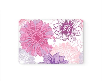 MacBook Cover MacBook Decal MacBook Top Front Lid Skin MacBook Sticker Air/Pro/Retina Touch Bar 11 12 13 15 17 inch | Blooming Flowers