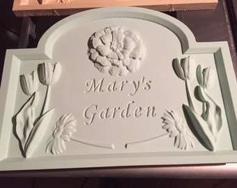 Ready to Finish Garden Sign/Plaque