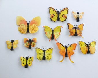Yellow Butterfly Hair Clip. Butterfly Hair Clip.