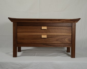 Console table/Asian Antique Style small desk with two drawers/HANDMADE night table