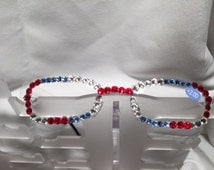 2.00 Swarovski Crystal Reading Glasses ( red, blue n crystal ) FREE SHIPPING