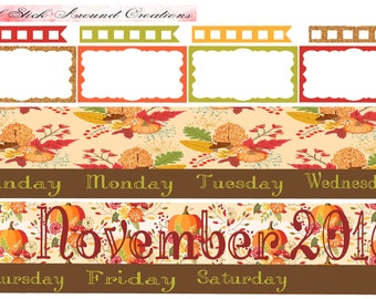 M11-November Monthly kit -EC Life Planner or EC Teacher Planner-Removable Matte paper