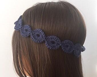 boho headband crocheted - ring