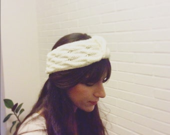 Twisted wool turban