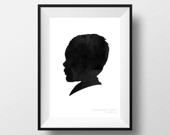 Custom Personalized Silhouette Portrait