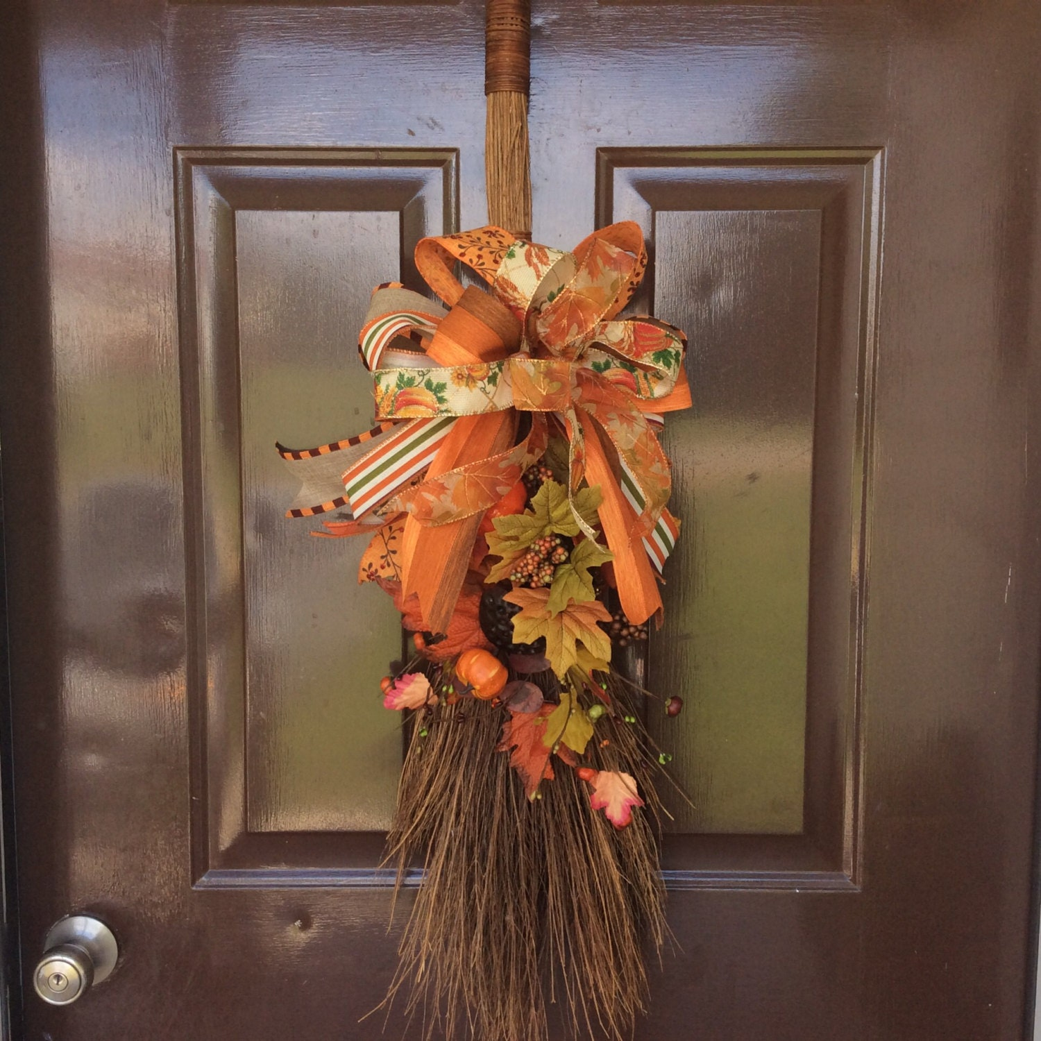 Decorate A Picture: Fall Broom Decor Fall Decorations Fallbroom Arrangement