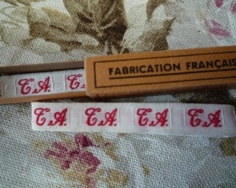 """Label """"Monogram"""" embroidery. French manufacturing"""